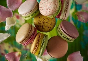 A romantic to go dessert: macarons from Pierre Hermes.
