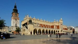 The main square in Krakow.
