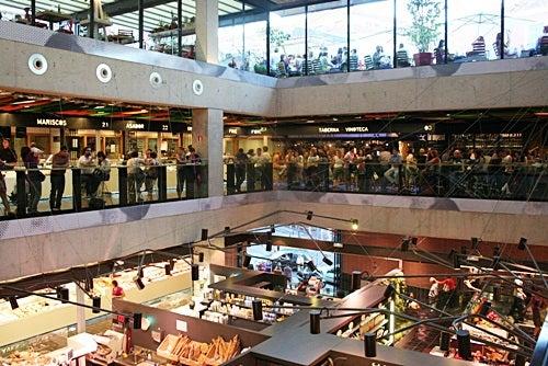 The tri-level Mercado de San Anton in trendy Chueca.