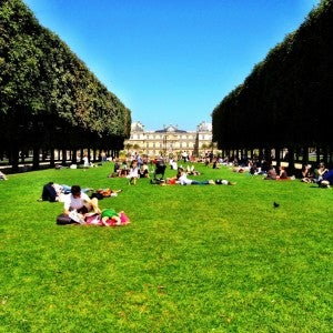 A picnic at the Luxembourg Gardens.
