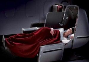 Qantas A380 business class.