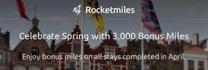 Get 3,000 bonus miles for booking with Rocketmiles.