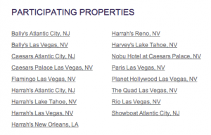 SPG Caesar's participating resorts