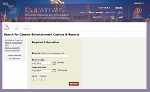 SPG Caesar's search page