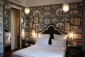 A vintage designed room at Saint James Hotel.