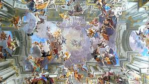 The ceiling of the San Ignazio church in Rome.