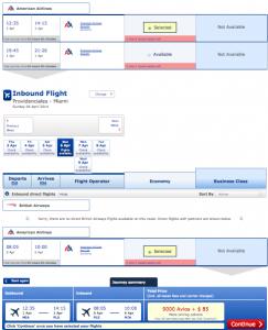 Miami to Turks & Caicos for 9,000 Avios + $85.