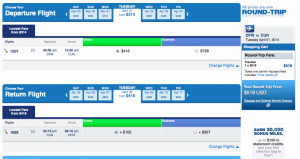That same DFW-CUN itinerary is $518.