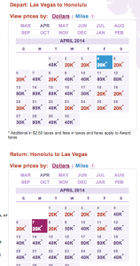 HawaiianMiles has a handy calendar that allows you to preview mileage-award amounts for each day in a month