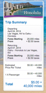 April 4-7 roundtrip LAS-HNL