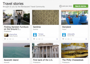 Travel stories posted to the Barclaycard Travel Community earn 200 miles apiece