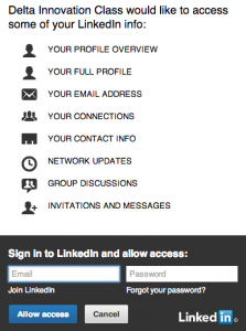Provide your login info to your LinkedIn account, and you've applied