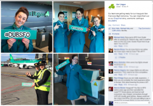 Aer Lingus promotes their new SFO-DUB route