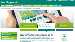 New connectivity options on Aer Lingus A330's