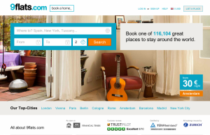 9flats.com is an online vacation rentals site that accepts bitcoin