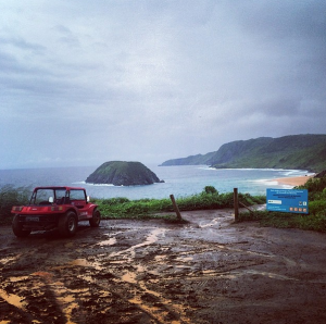 Nothing quite like a beach tour in the rain