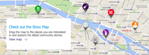 Share up to 5 stories per city.