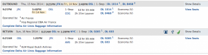 Options on Delta, same costs with stopovers.