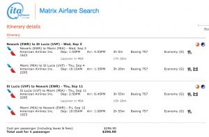 Via ITA Matrix - IAH-UVF from September 3-11, 2014 on American for $296