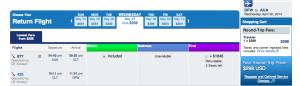 American with US Airways-operated planes - DFW-CLT-AUA-CLT-DFW - April 30-May 7, 2014 for $298
