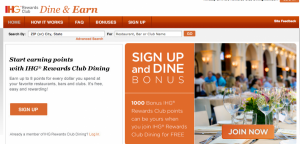 Hotel chains like IHG also offer dining rewards.