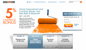 Q2's 5% Back Categories include Home Improvement and furniture stores.
