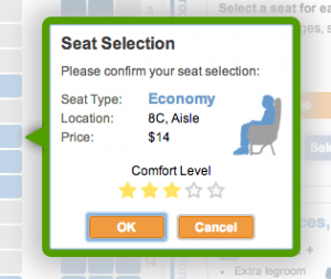 As you're booking an Allegiant trip, you'll be charged to make an advance seat reservation; here, the one-way fee to reserve an Economy seat on an OAK-Phoenix/Mesa flight is $14