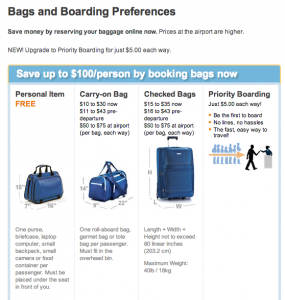 The New Frontier Of Airline Fees Overhead Bin Space And