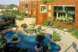 Outdoor pool at the Sheraton New Delhi