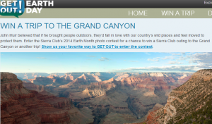 Win a trip to the Grand Canyon.