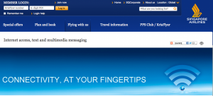 Singapore Airlines offers WifI on its