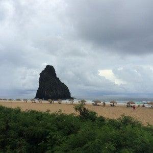 The Praia de Meio, where we saw a surfing competition