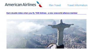 Earn double AAdvantage miles on TAM during May.