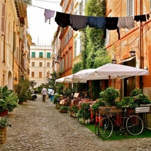 """Trastevere is authentic-the """"real"""" Rome."""