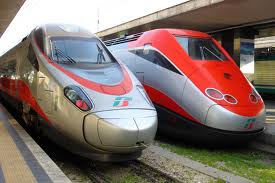 The Frecciarosa trains operate many of the routes from Milan, Florence and Rome.