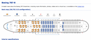 United 787 seat map