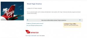 American Express offers a 30% transfer bonus to Virgin America.