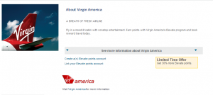 American Express offers a 30% transfer bonus to Virgin America.
