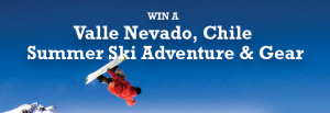 Win a ski trip to Chile.