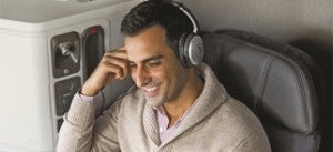 AA's Bose noise cancelling headphones
