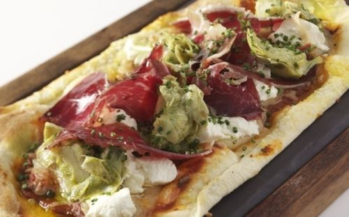 """""""Cocas"""" a Spanish pizza dish that is Vi-Cool's specialty."""