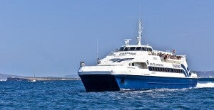 You an catch the ferry several times a day from Ibiza to Formentera.
