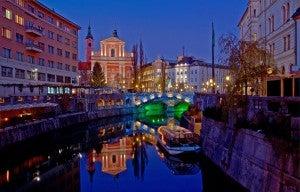The Ljubljanica River.