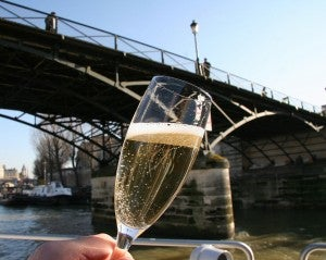 Take a champagne cruise along the Seine.