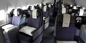 BusinessFirst seats aboard United's transcontinental Premier Service (p.s.)
