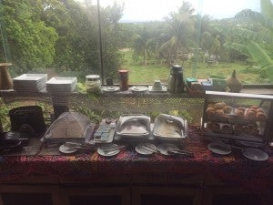 Breakfast with a jungle view