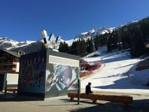 The W has easy ski in/ski out access.