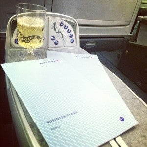 Ah, the consolations of American Airlines business class