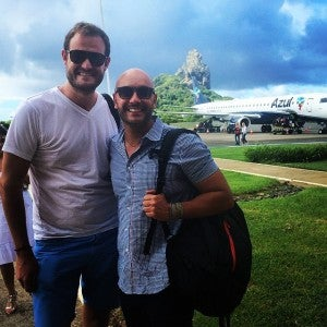 Arrived safely on Azul Airlines in Fernando de Noronha with my friend Sergio