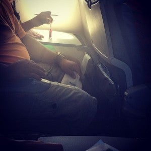In-flight manicure: quite possibly the dumbest idea in the sky